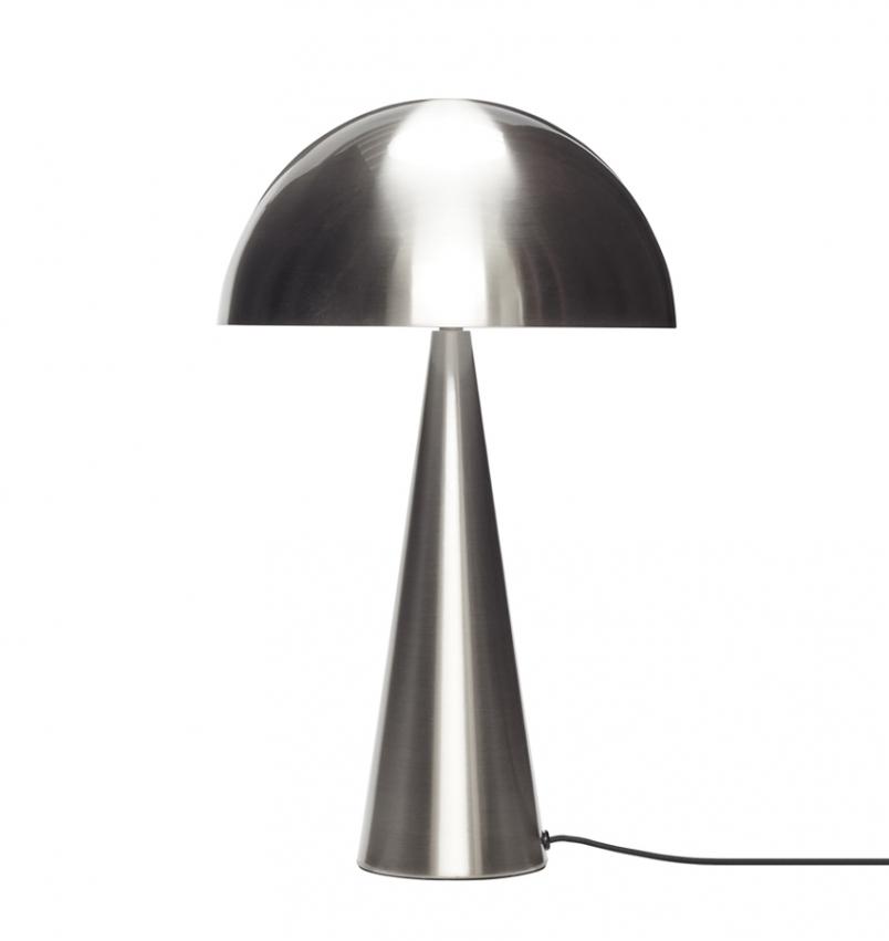 Bordslampa Svamp krom stor