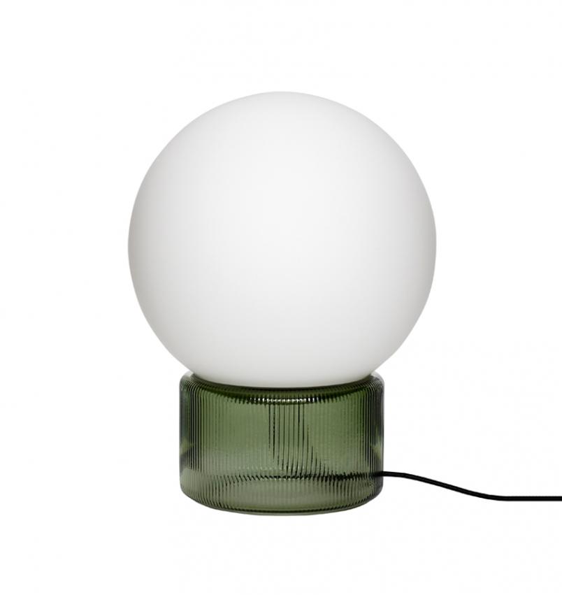 Bordslampa glas grön