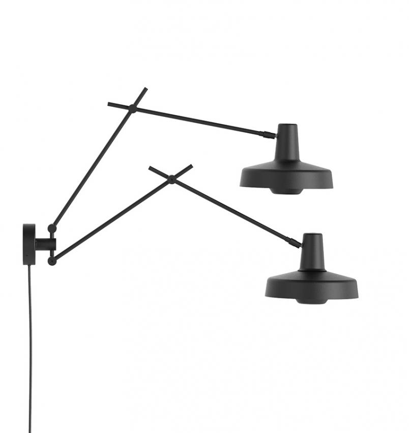 Arigato Vägglampa Double Svart
