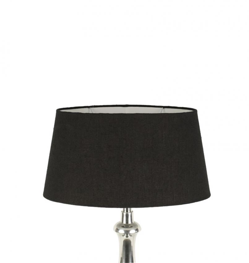 Lampskärm jute oval svart