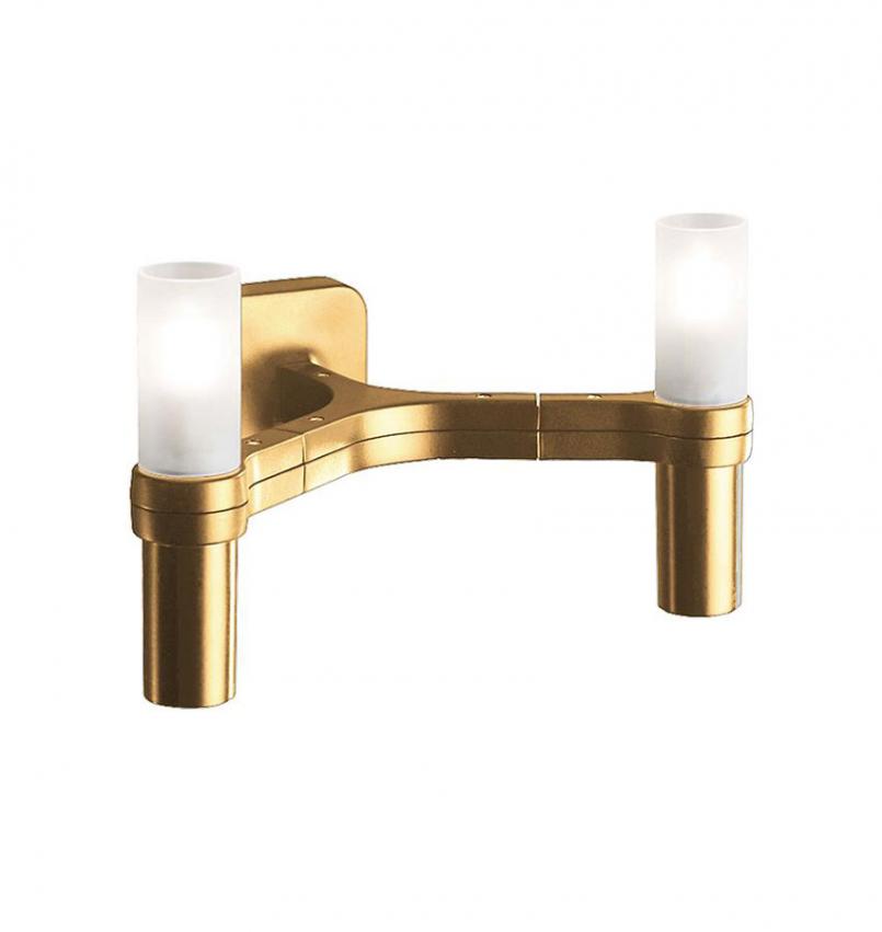 CROWN Vägglampa Guld