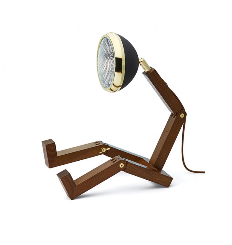 Mr Wattson bordslampa Mässing/Mattsvart