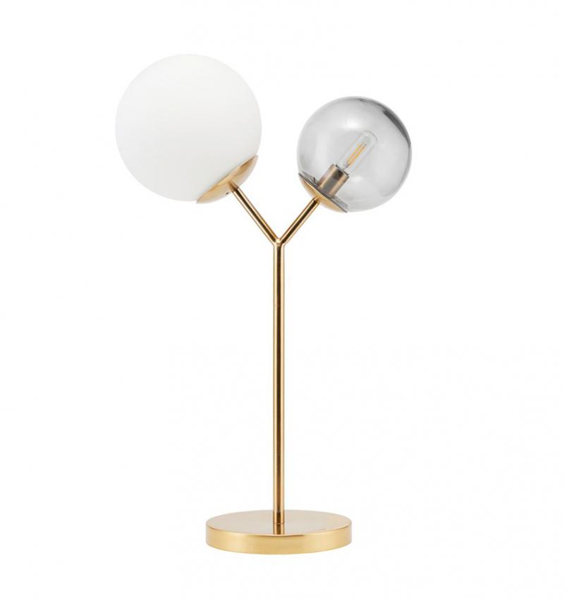 Bordslampa Twice mässing