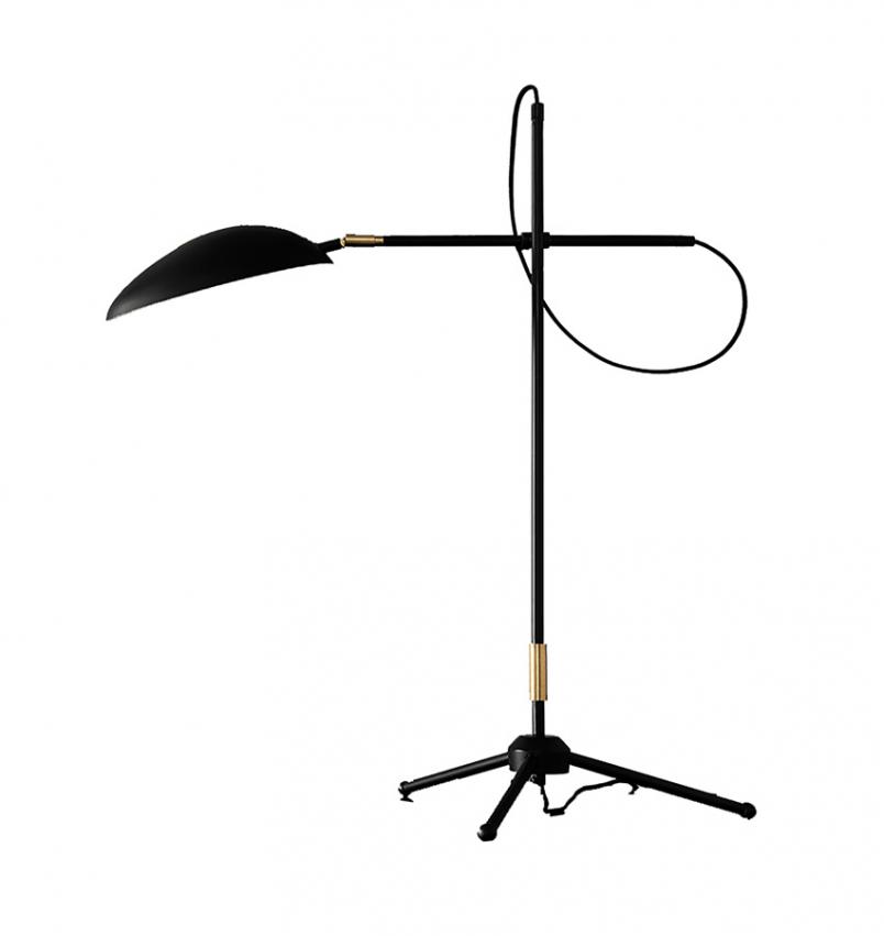 Spoon bordslampa svart