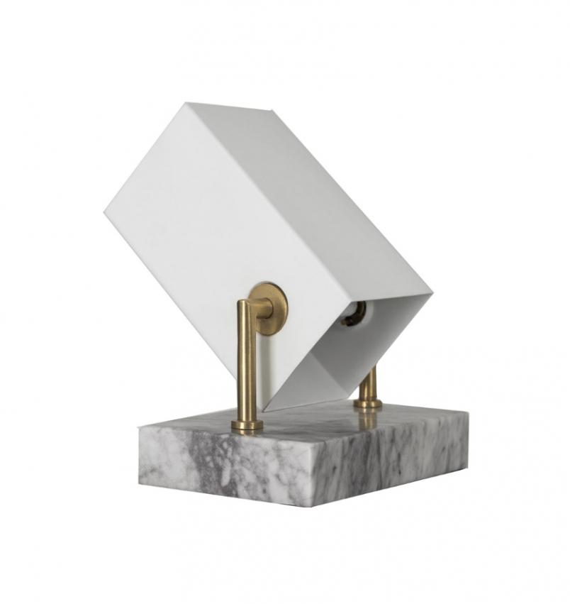 Box bordslampa/spot vit