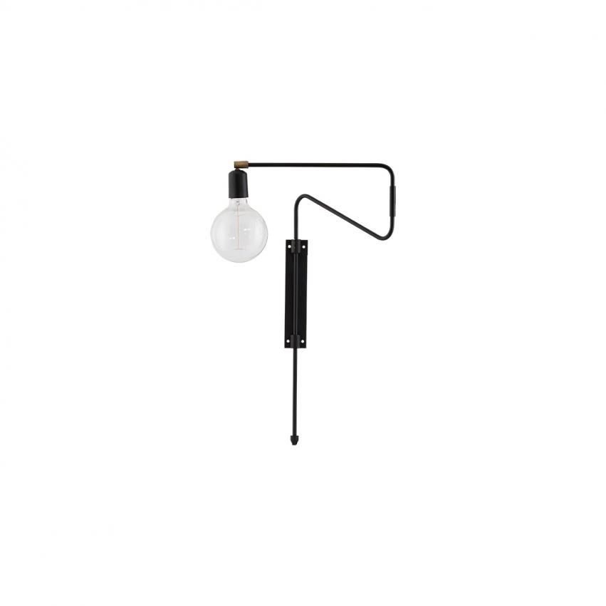 Swing Vägglampa 35 cm, Svart