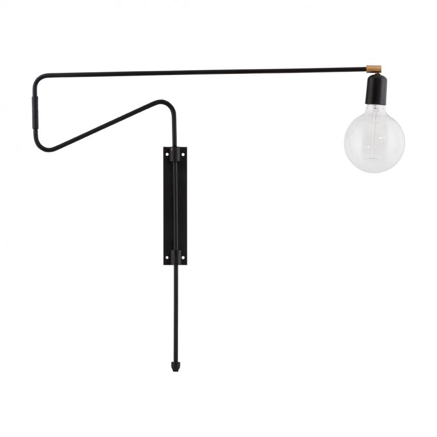 Swing Vägglampa 70 cm, Svart