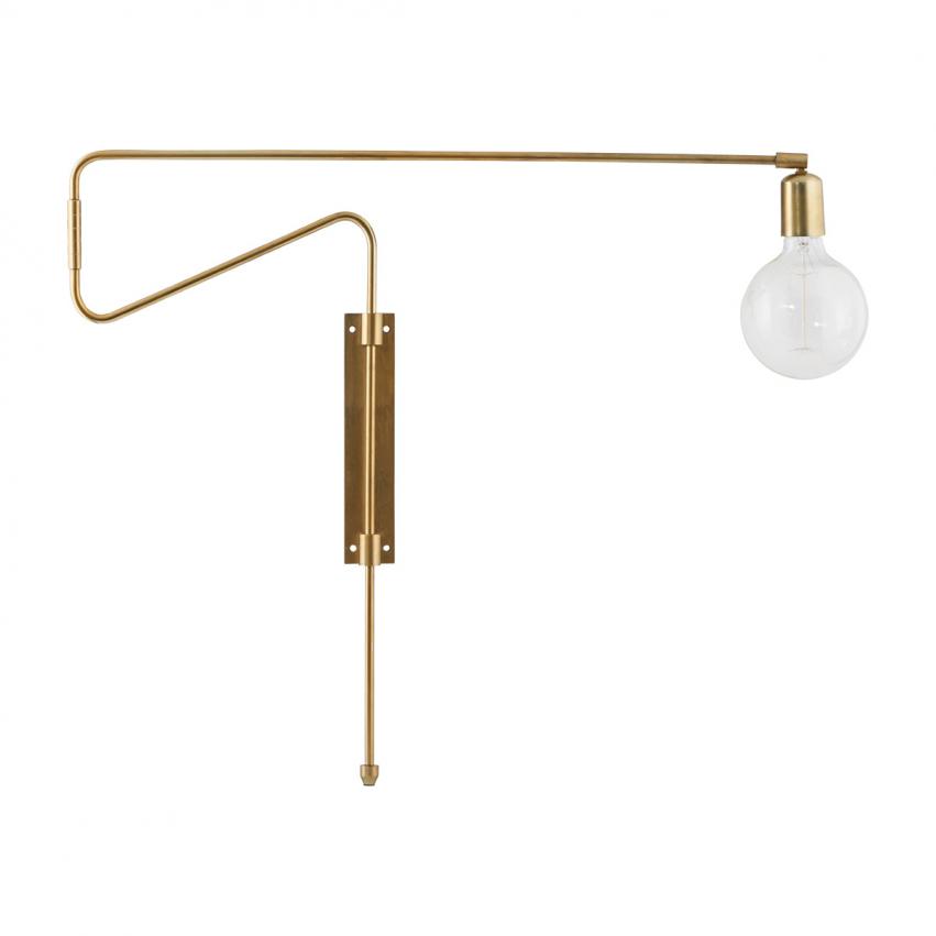 Swing Vägglampa 70 cm, Mässing