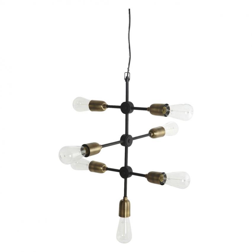 Molecular Taklampa 58 cm, Mässing/Svart