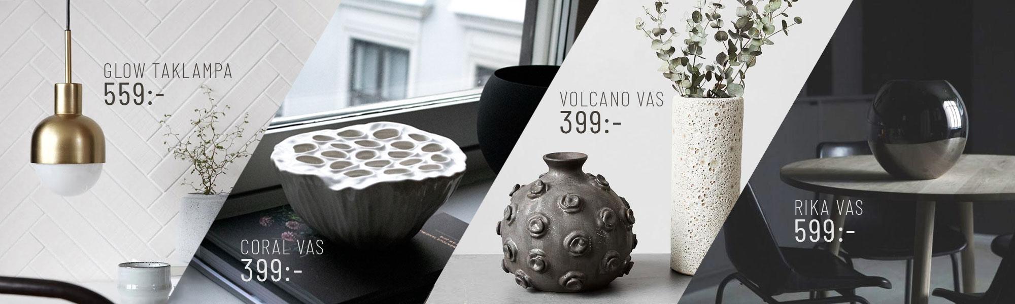 inredning dekoration online lampa kruka vas